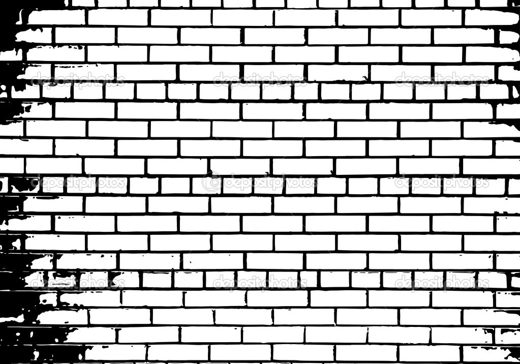 10 White Brick Wall Vector Images