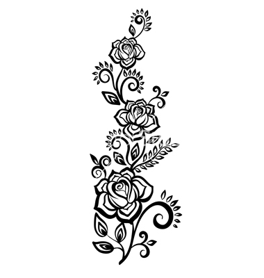 12 black and white flower vector images black and white flower black and white flower vector art mightylinksfo
