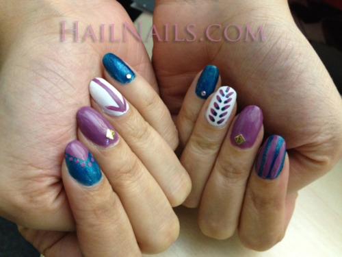 10 purple nail designs tumblr images matte nails tumblr matte blue and purple nail designs prinsesfo Choice Image