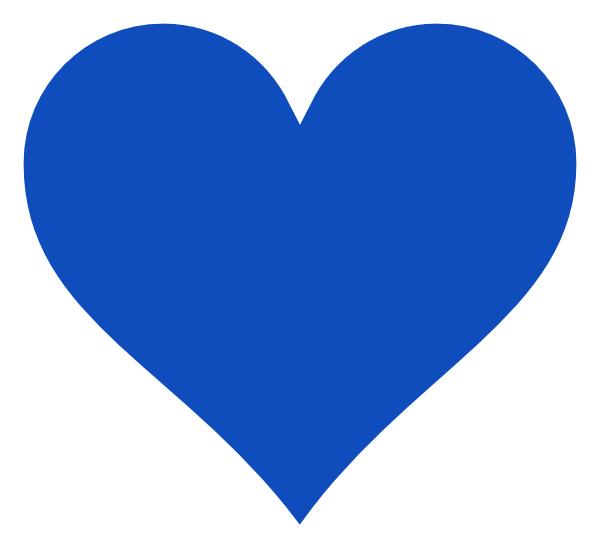 10 Blue Art Heart Vector Images