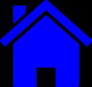 Blue House Clip Art Free