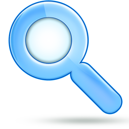magnifying glass icon blue - photo #8