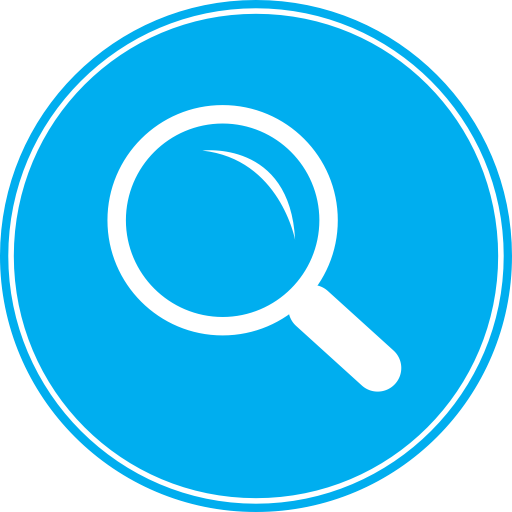 magnifying glass icon blue - photo #21