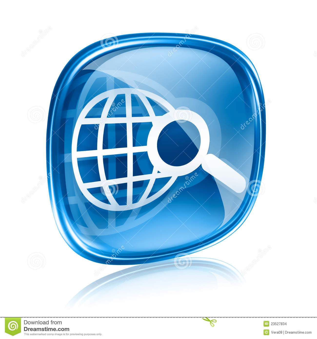 magnifying glass icon blue - photo #16