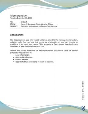 memo template word 2010