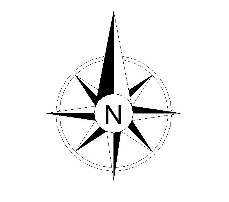 12 CAD North Arrow Vector Images