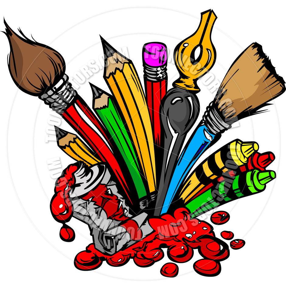 Cartoon Art Supplies