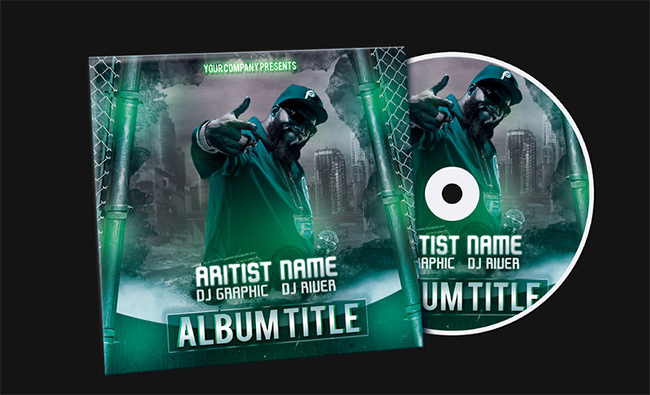 CD-Cover PSD Template Download