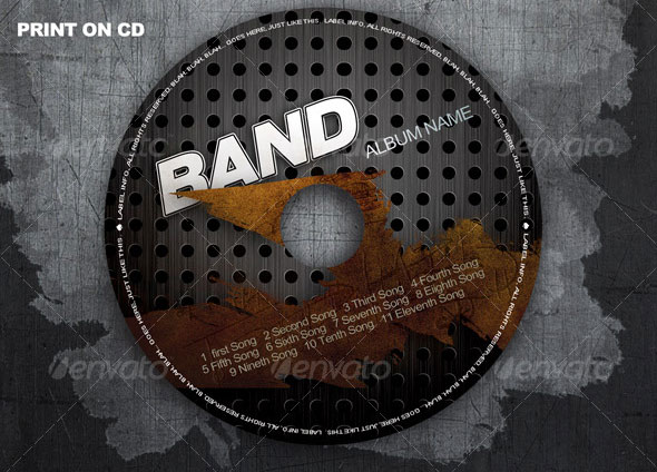 12 CD Sleeve Template PSD Images