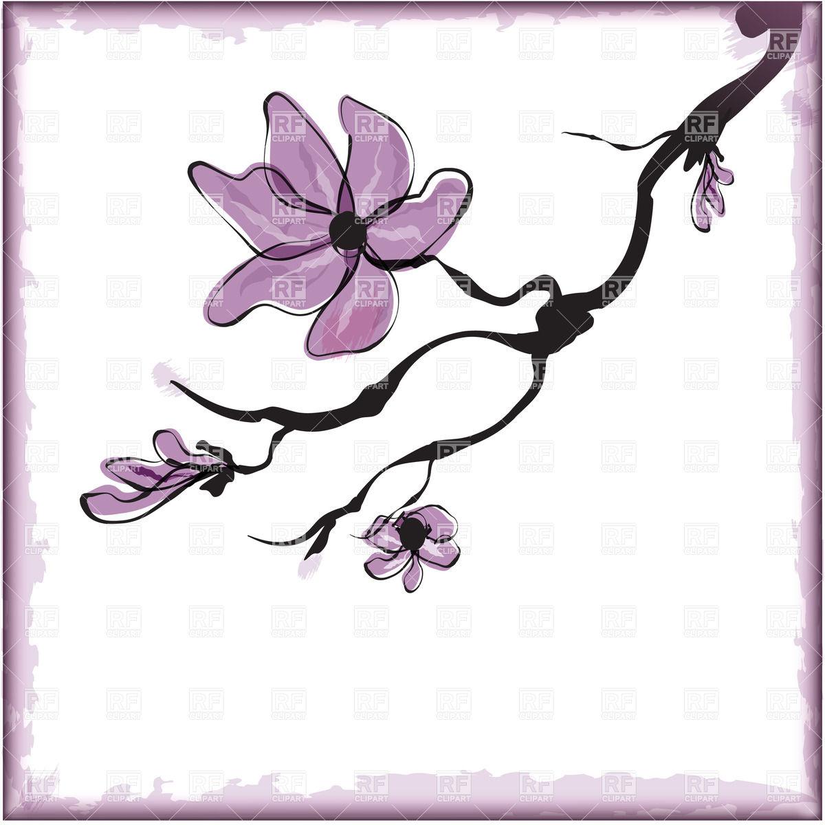 19 Cherry Blossom Flower Vector Art Images - Cherry ...