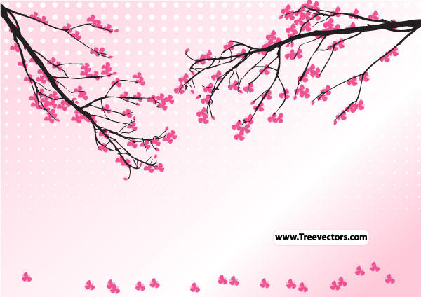 19 Cherry Blossom Flower Vector Art Images - Cherry ...