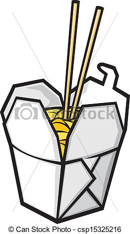 Chinese Food Box Clip Art