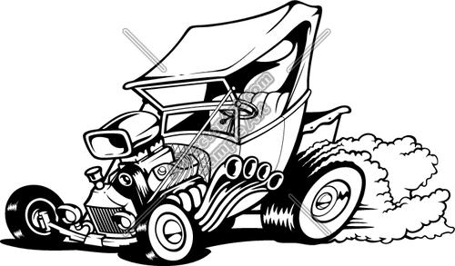 Classic Cars Vector Clip Art
