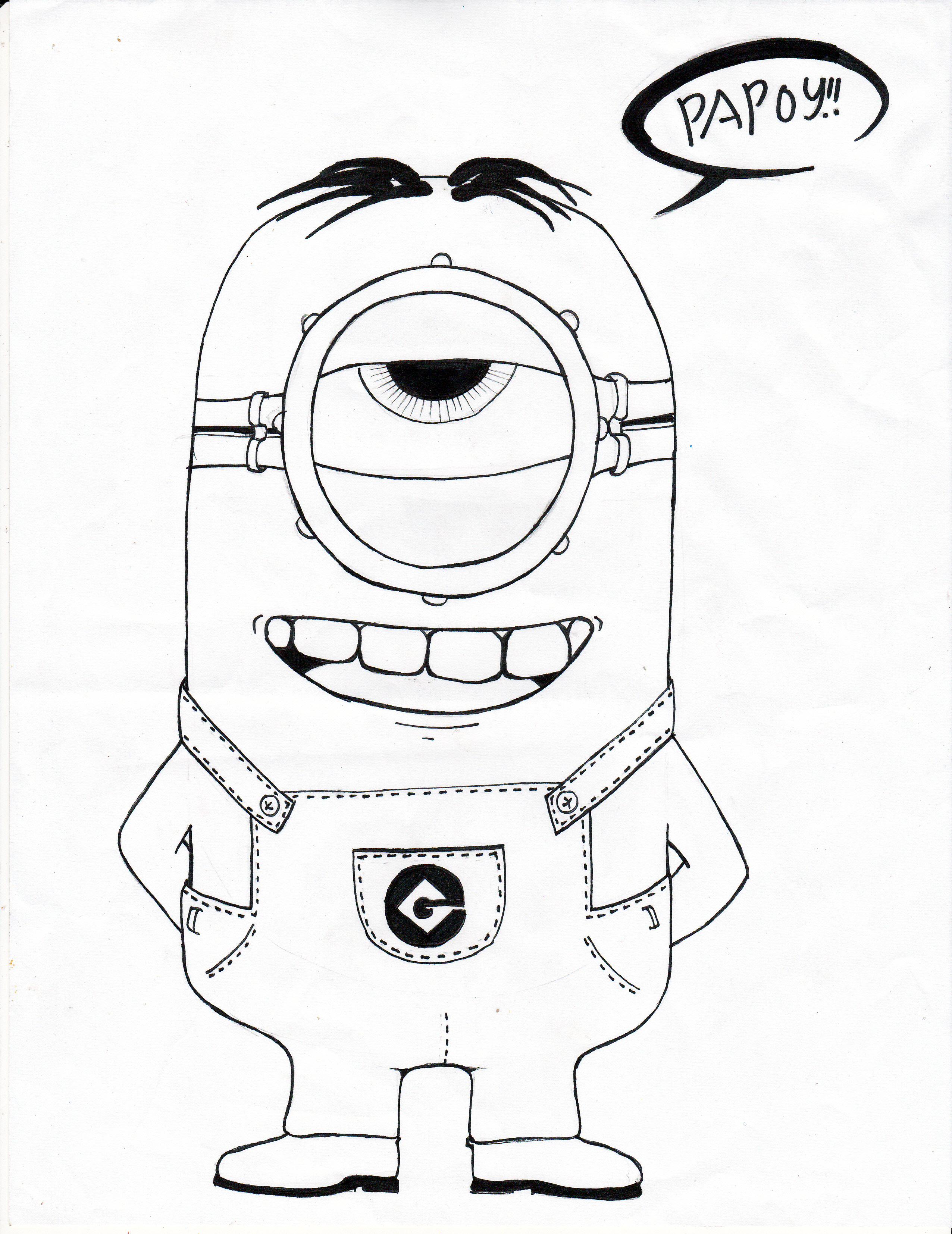 Despicable Me Minion Cartoon Drawings