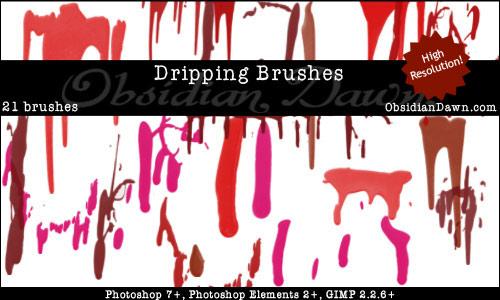 Dripping Paint Brush Photoshop