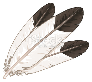 13 Native Eagle Feather Vector Images