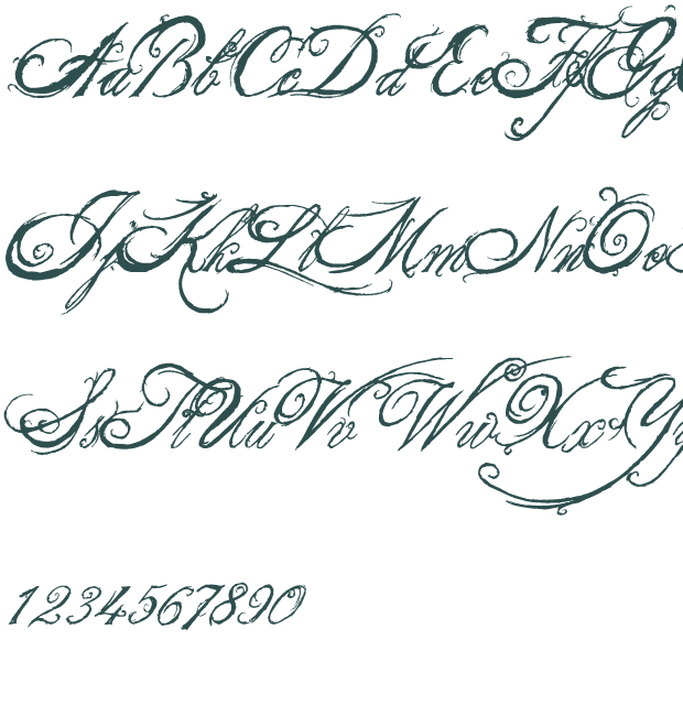 8 King And Queen Font Alphabet Images