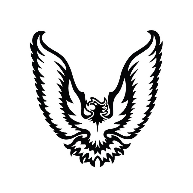 Firebird Silhouette Vector
