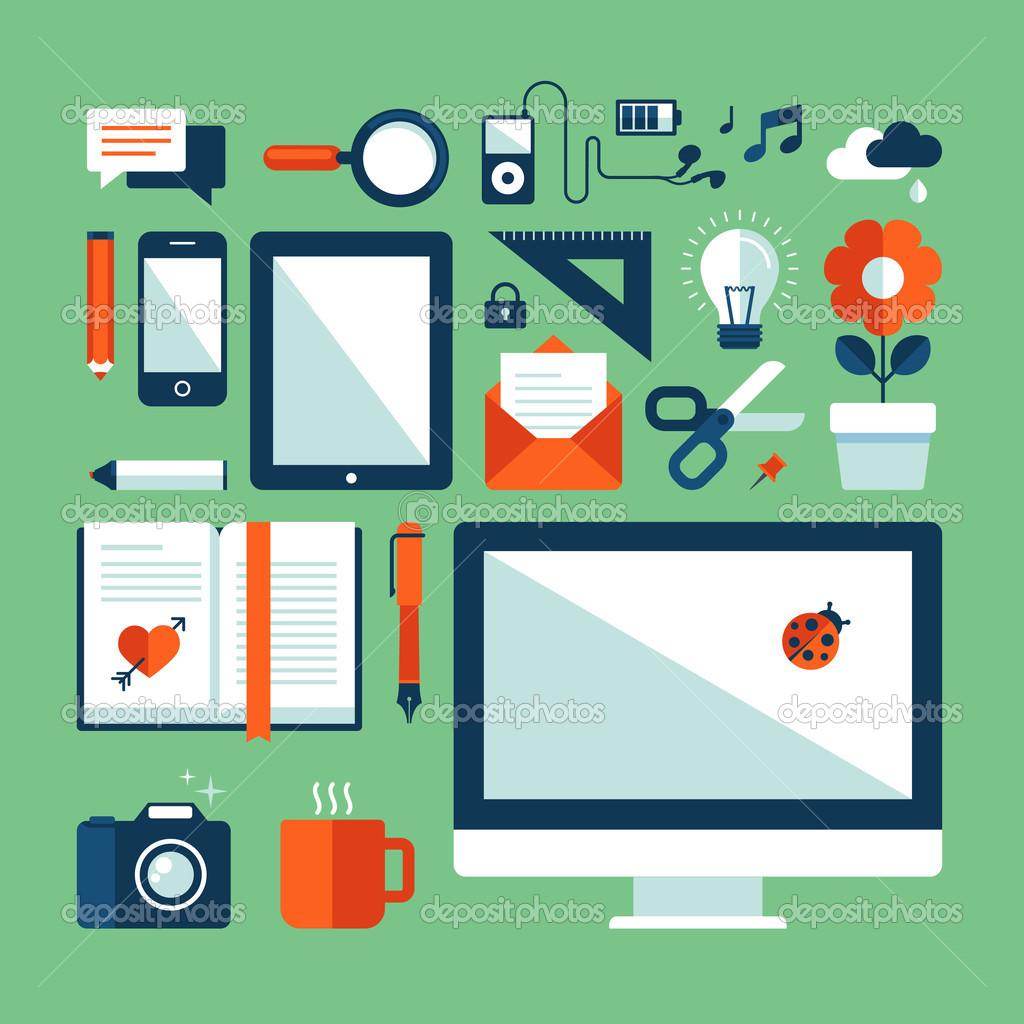14 Flat Design Vectors Images