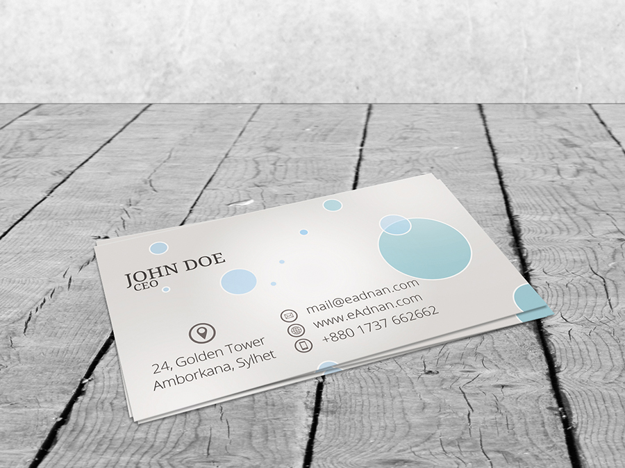 Free Business Card Mock Up Psd