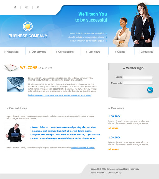 Free Business Header Templates