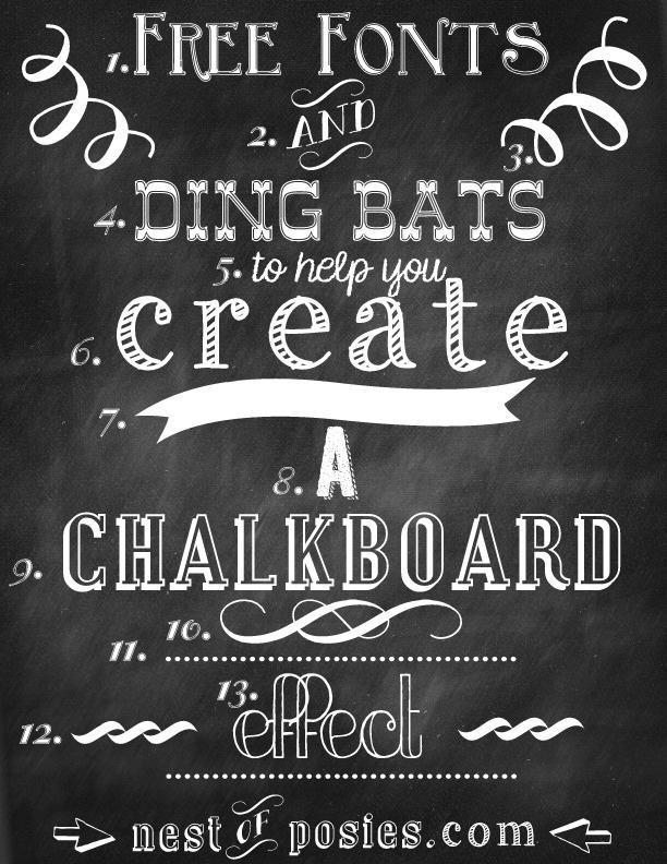 12 Free Chalkboard Font Photoshop Images