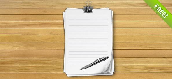 9 Lined Paper Template PSD Images