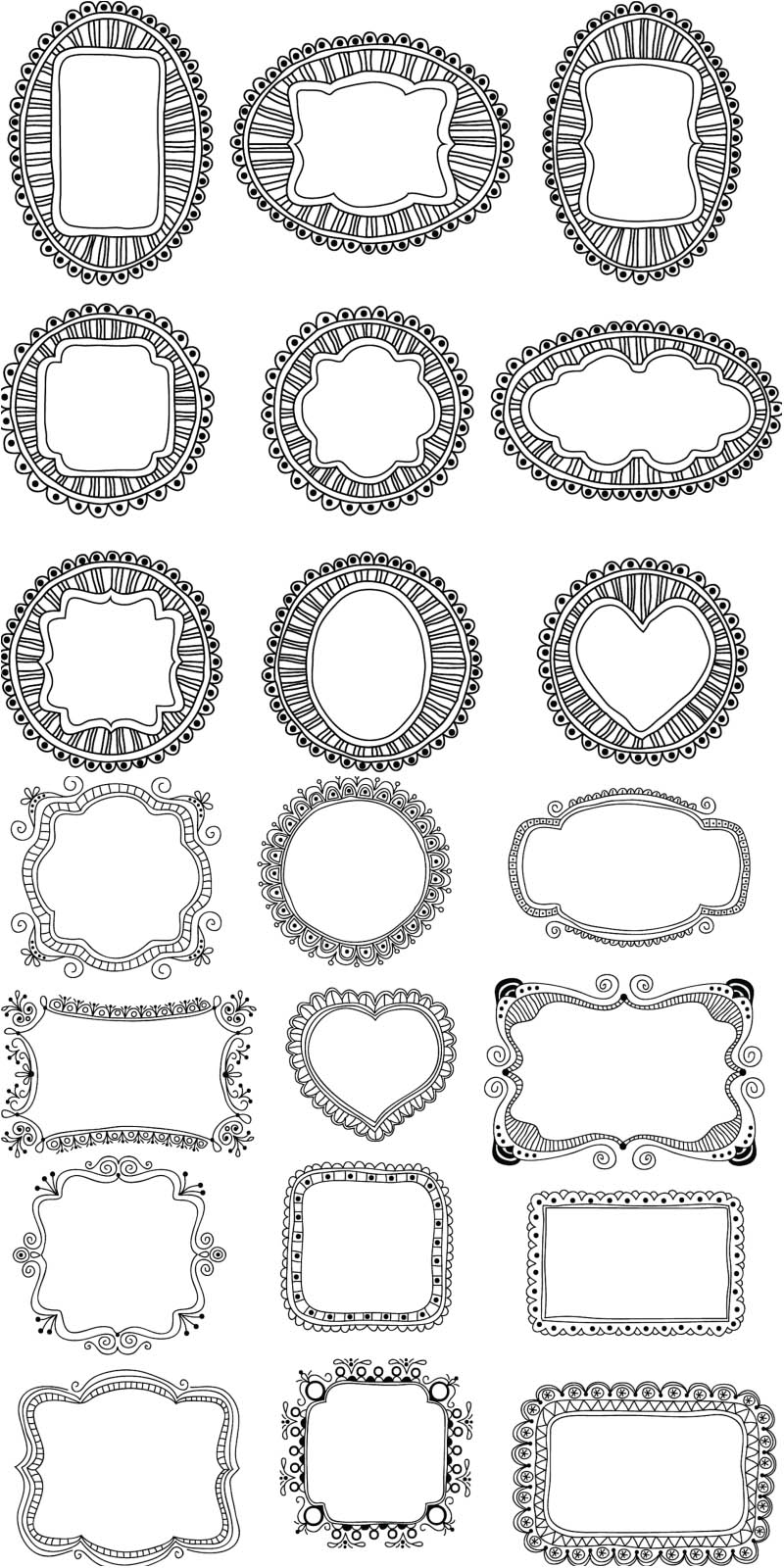 20 Ornate Frame Vector Images