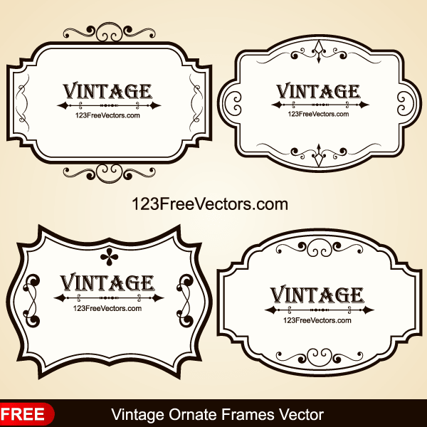 Free Ornate Vintage Frame Vector