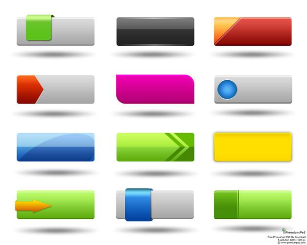 15 Website Button Designs Images - Web Design Buttons, Free Web