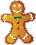 Gingerbread Man Cookie Clip Art Free