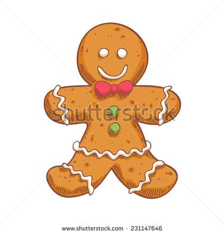 Gingerbread Man Sketch