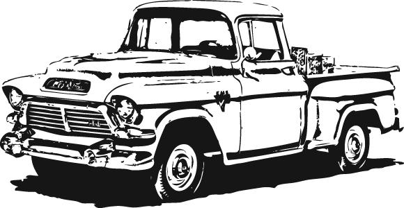 GMC Pick Up Truck Clip Art