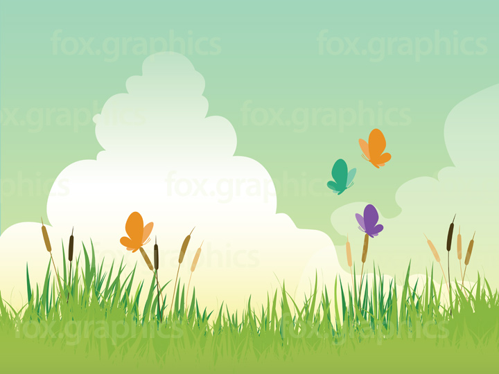 Grass Vector Graphics Background