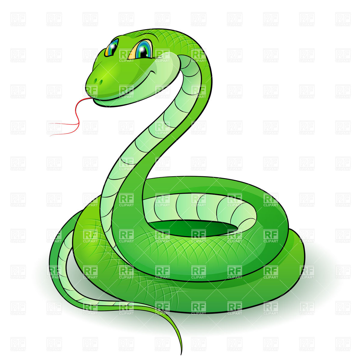 16 Cartoon Snake Vector Images