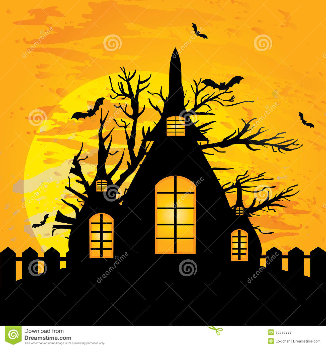 Halloween House Illustration