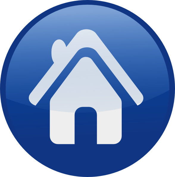 15 Blue Home Icon Clip Art Images
