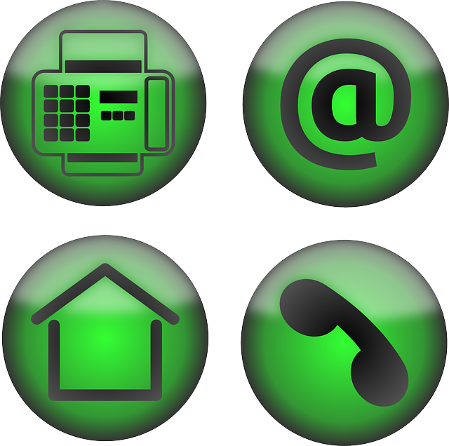 Home Phone Email Icons