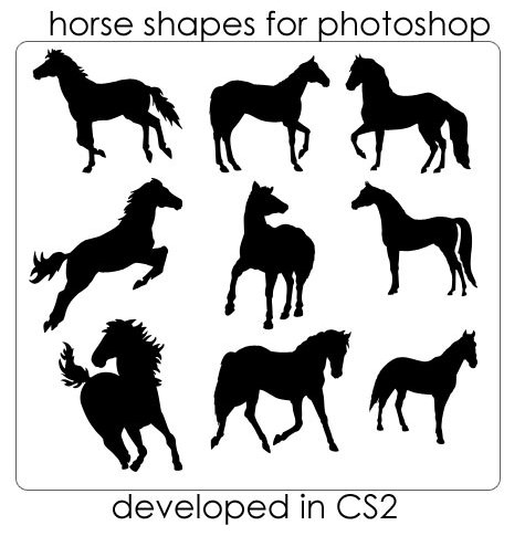 Horse Shape Photoshop
