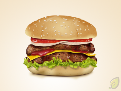 14 Burger Icon PSD Images