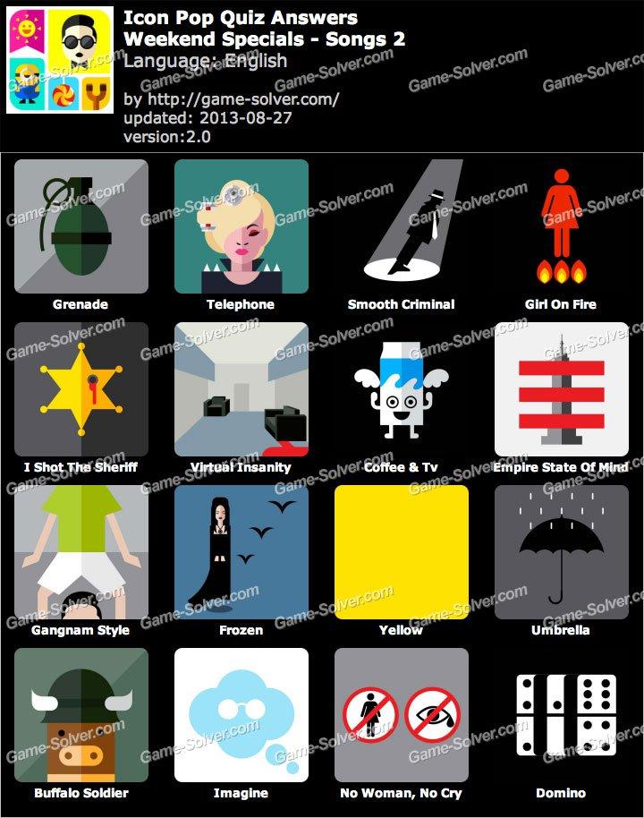Icon Pop Quiz Songs 2