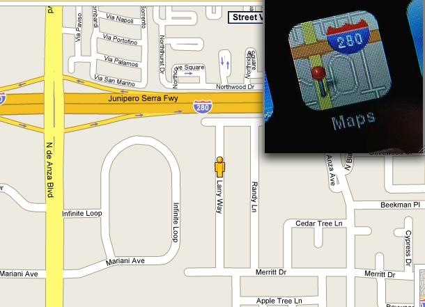 iPhone Map App Icon