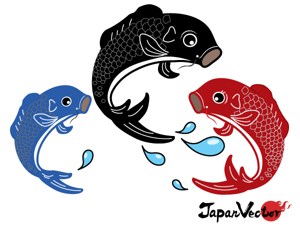 14 Japanese Koi Fish Vector Images