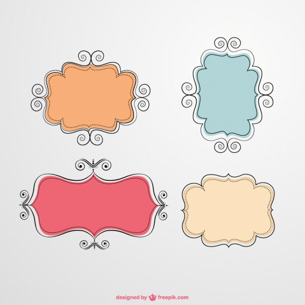 Label Vector Frames Free Download