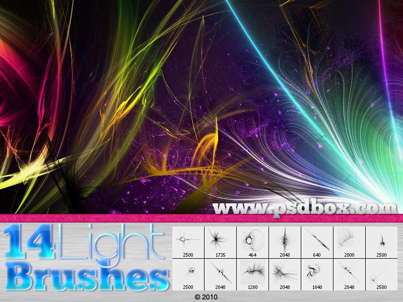 9 Light Streak PSD Images