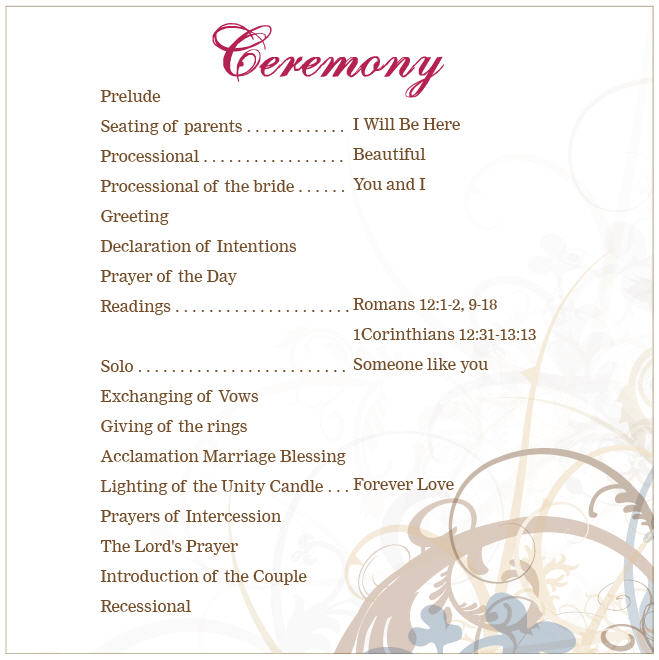 13 25th Wedding Anniversary Program Template Images - Vow ...