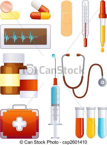 Medical Supplies Clip Art Icon