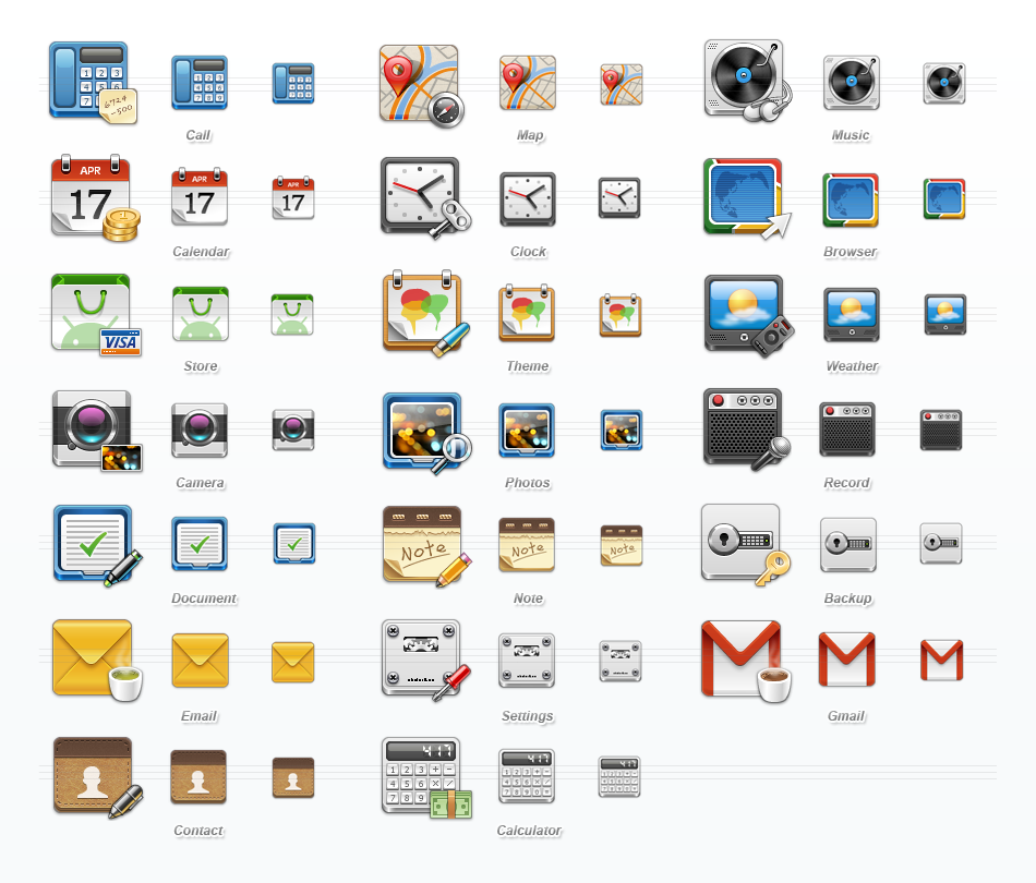 Mobile Application Icons