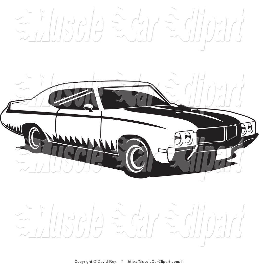 12 Buick Car Vector Clip Art Images Muscle Car Clip Art Black And