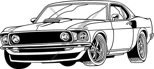 Muscle Car Vector Clip Art
